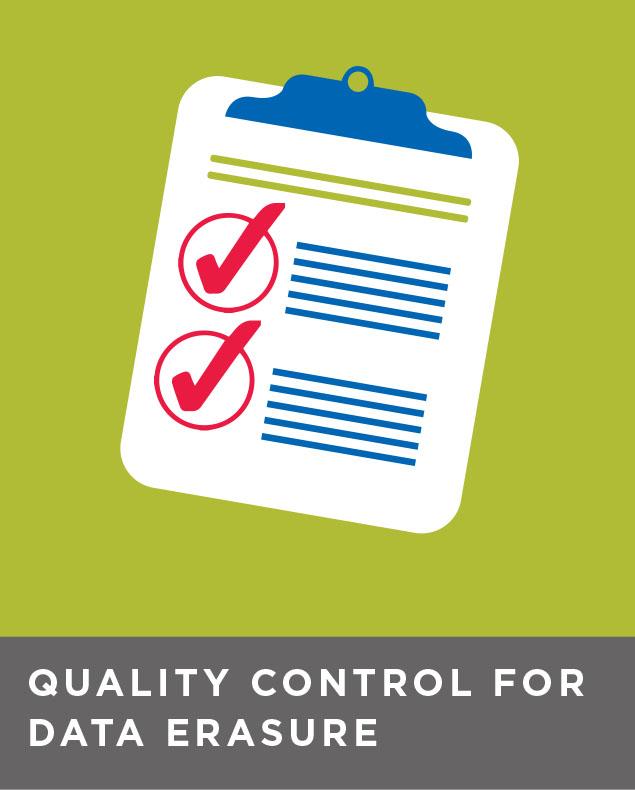 Quality control for data erasure