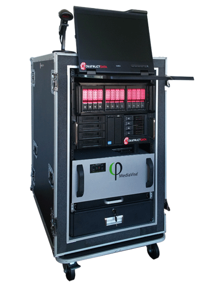 When your media sanitization scenario requires maximum flexibility to meet volume, destruction method or versatility variables, this is your self-contained mobile solution.