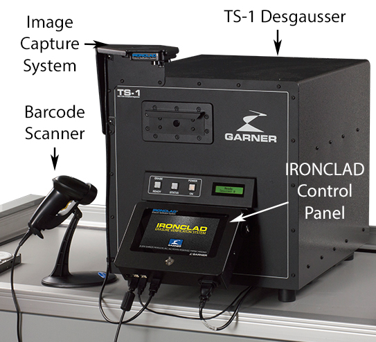 Ironclad degaussing verification integrated with TS-1 Degausser