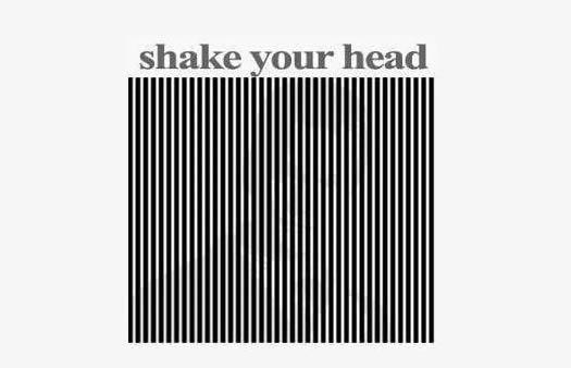 Try it. Shake your head to see the illusion.