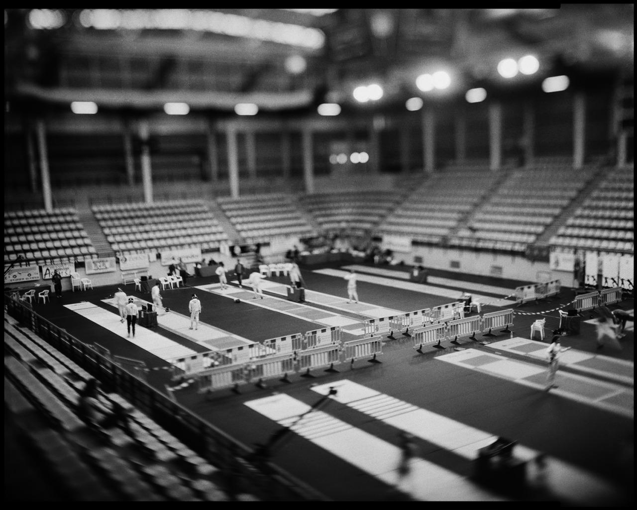 """Campeonato de España de Esgrima Sub-20, Torrejón de Ardoz.  Graflex Speed Graphic 4x5"""" & Kodak Ektar 127mm f4,7   www.oscararribas.com"""