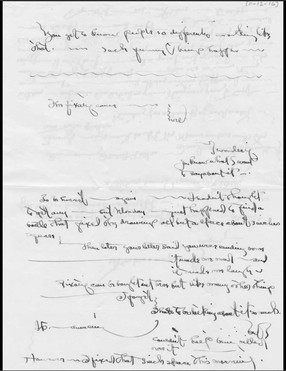Letter by O'Keeffe, 1916
