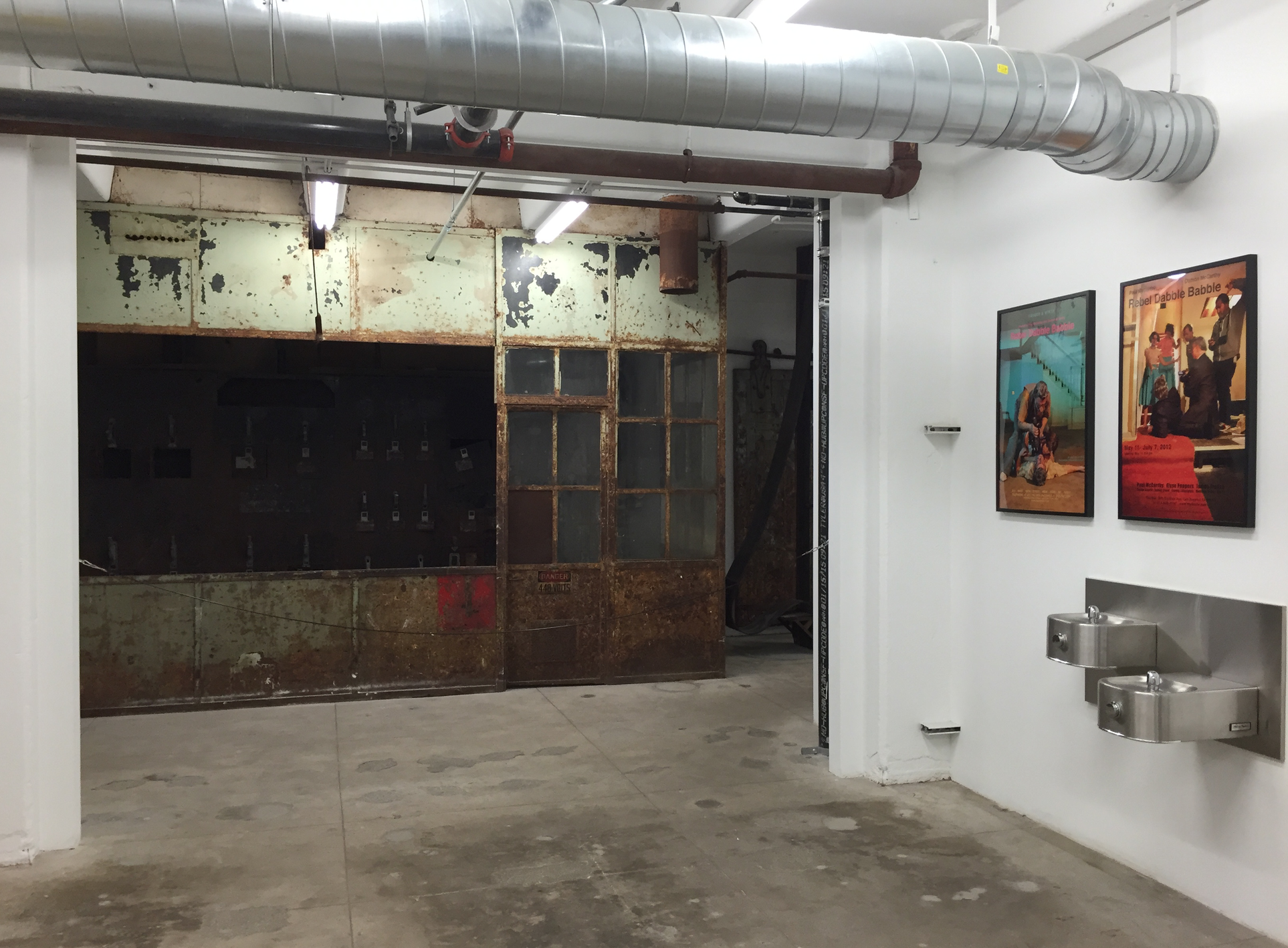 The remodel preserves a lot of the industrial history of the building.