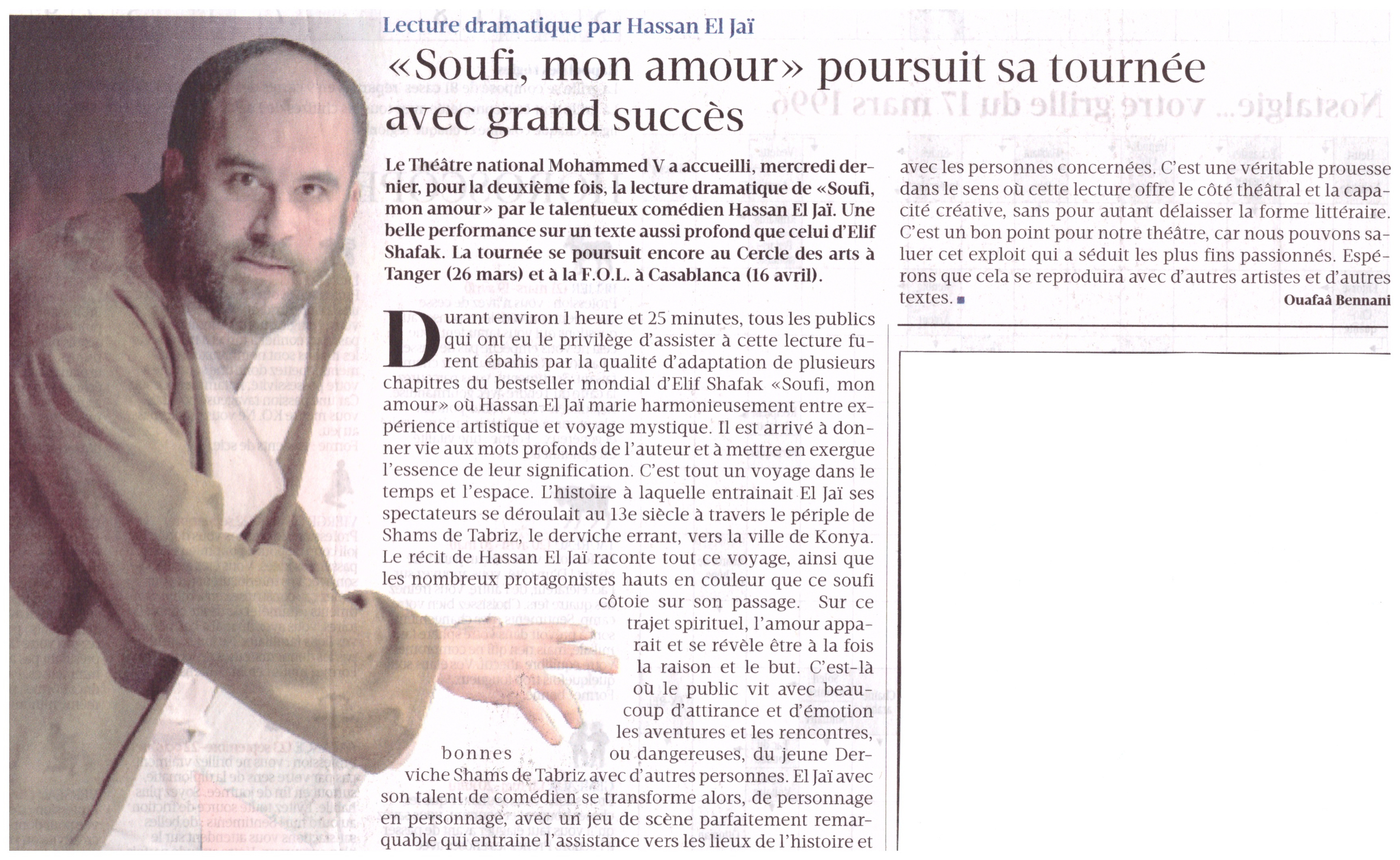 "Published in ""Le Matin"" - March 17th, 2016"