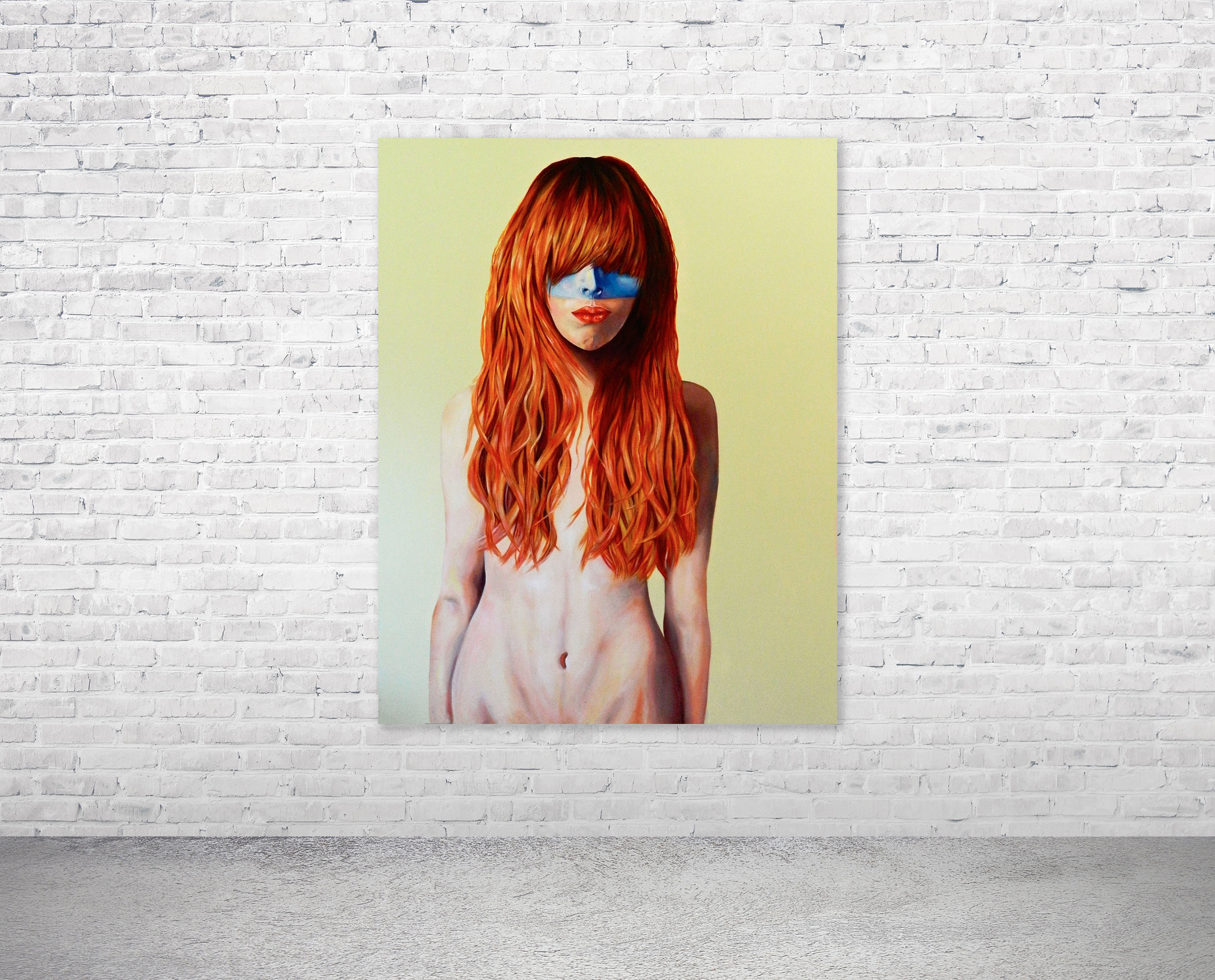 Red hair, Blue Mask