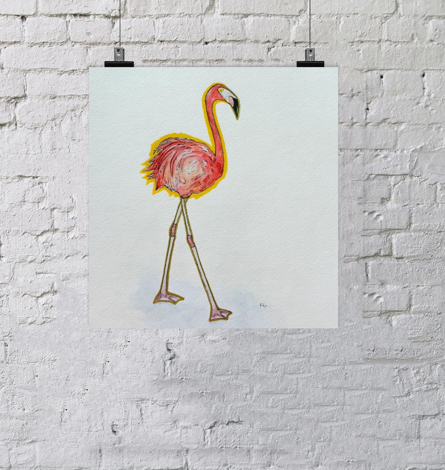 Flamingo on wall.jpg