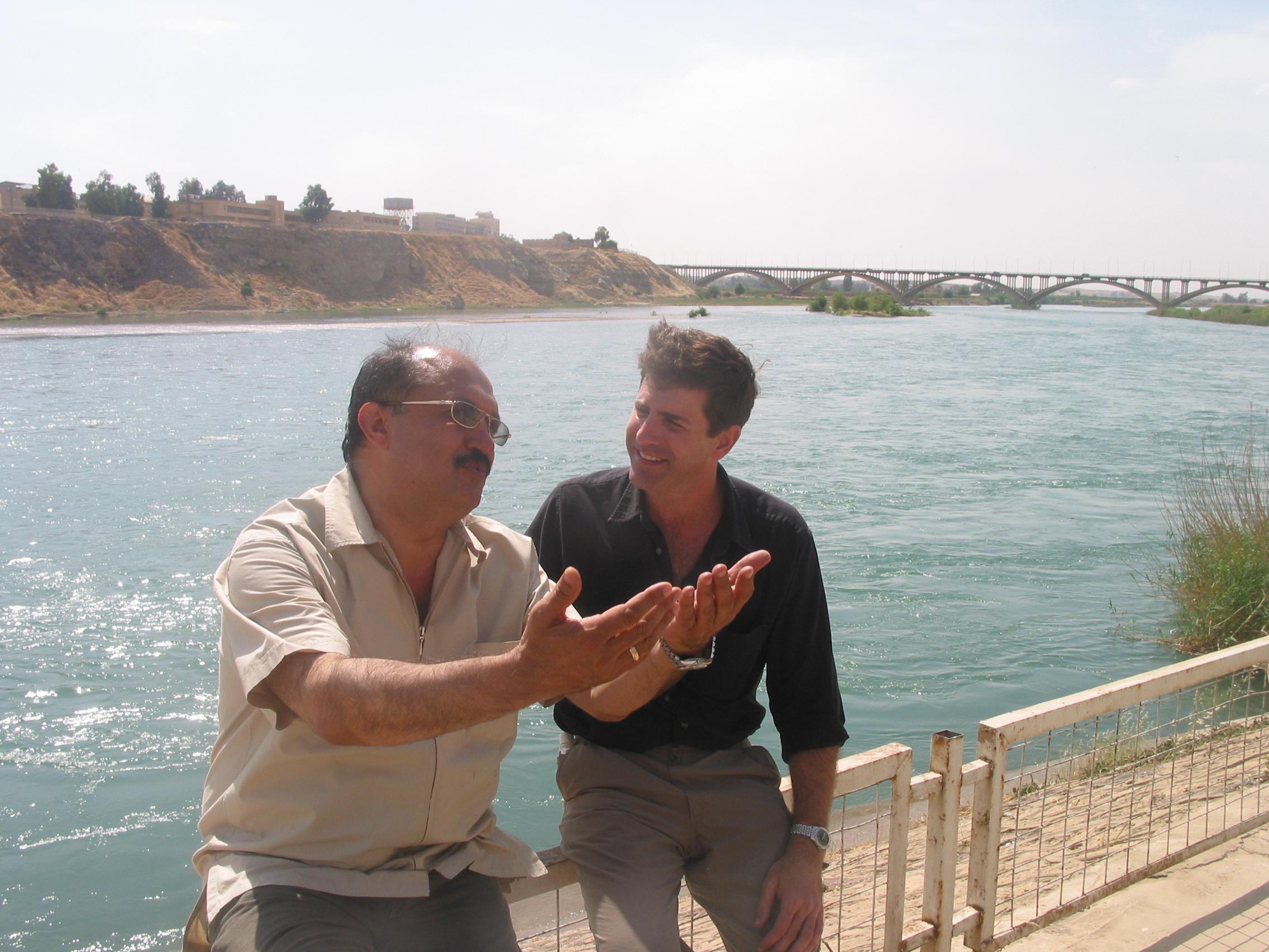 Mashaan Al Jaburi  with the author.