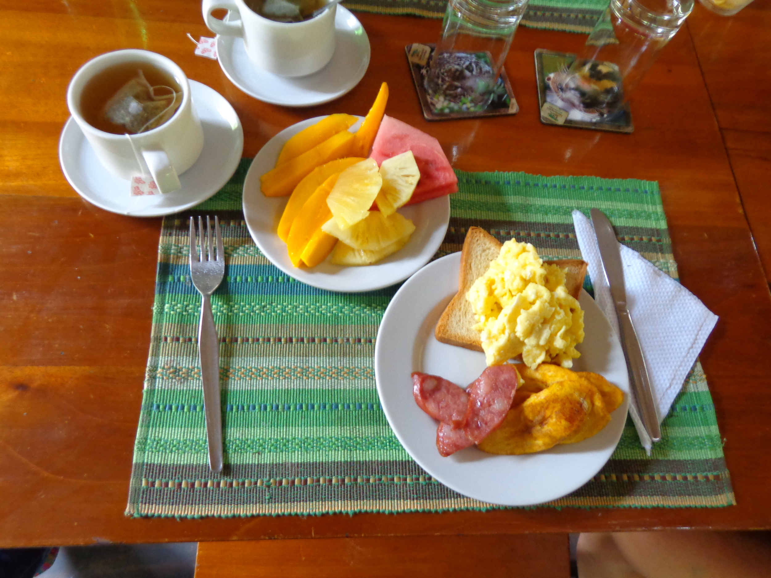 We had the yummiest meals at the eco lodge. The fresh fruit and plantains were my favorite!