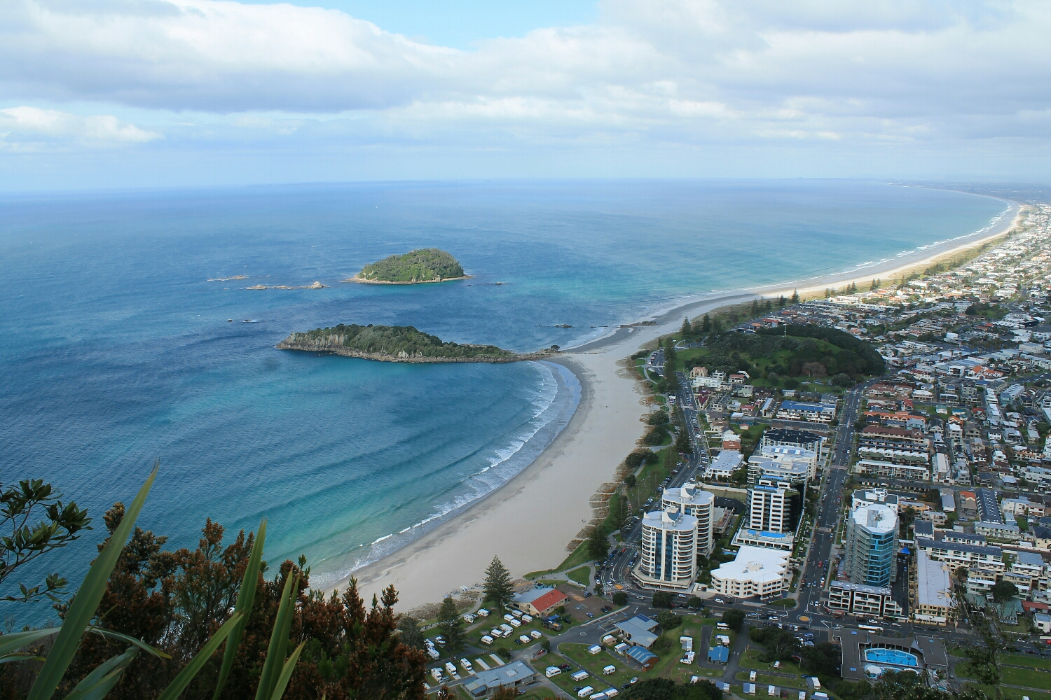 View from the summit of Mt. Maunganui