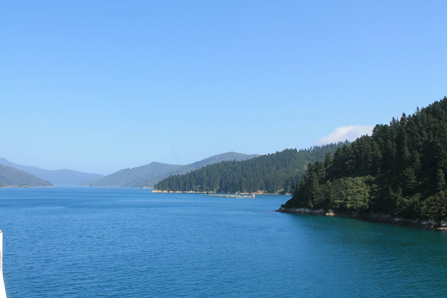 View from the Interslander ferry from the north to south island