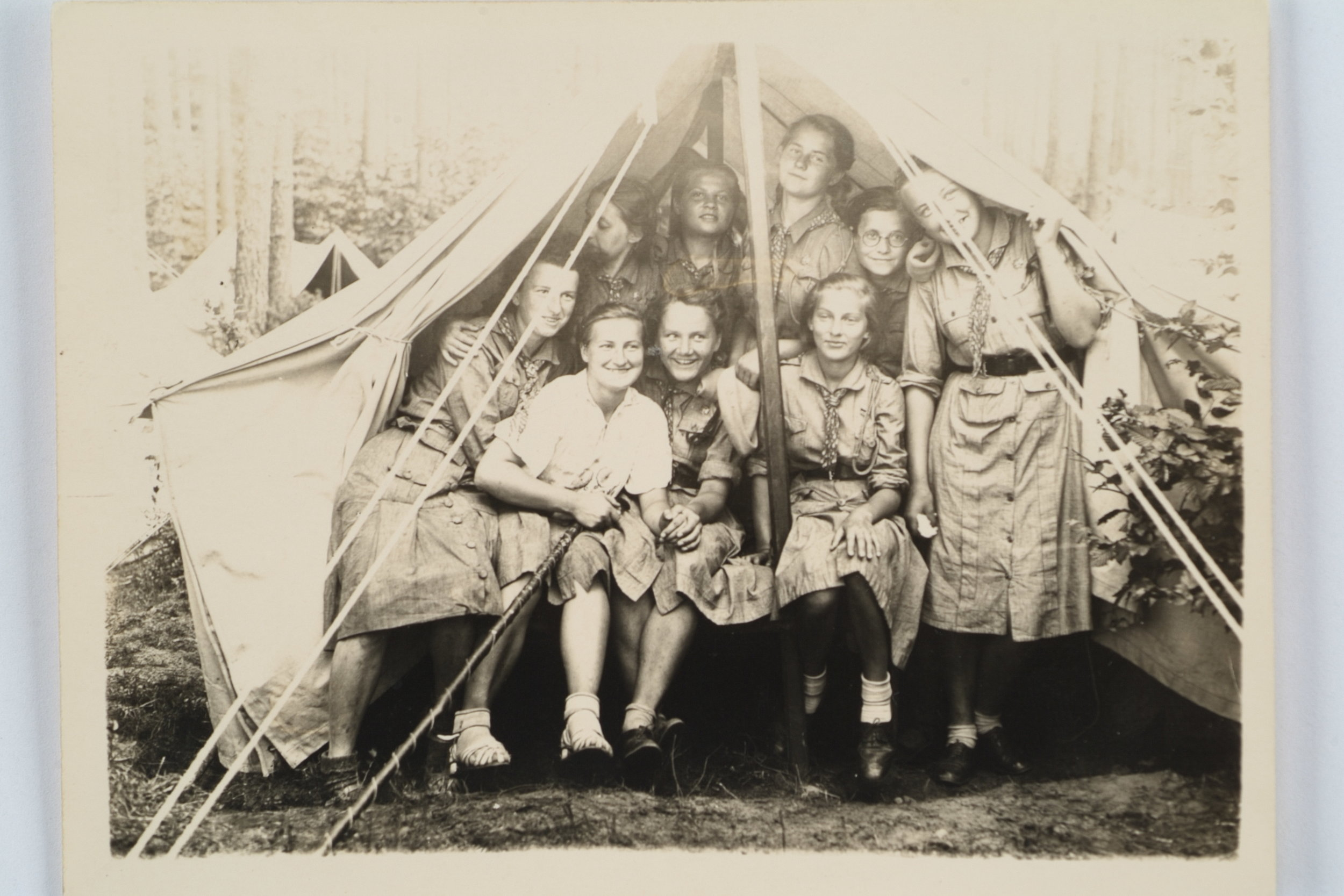 Wanda Poltawska with her Girl Scout Troop