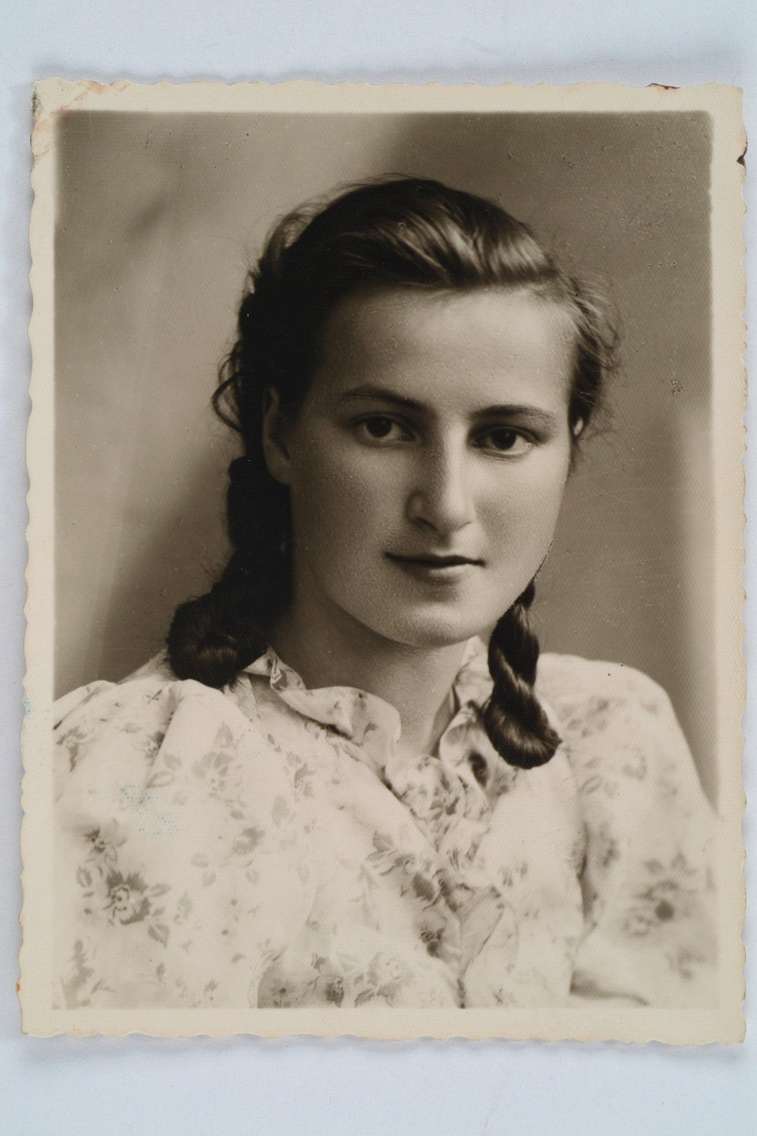 Wanda Poltawska as a young woman