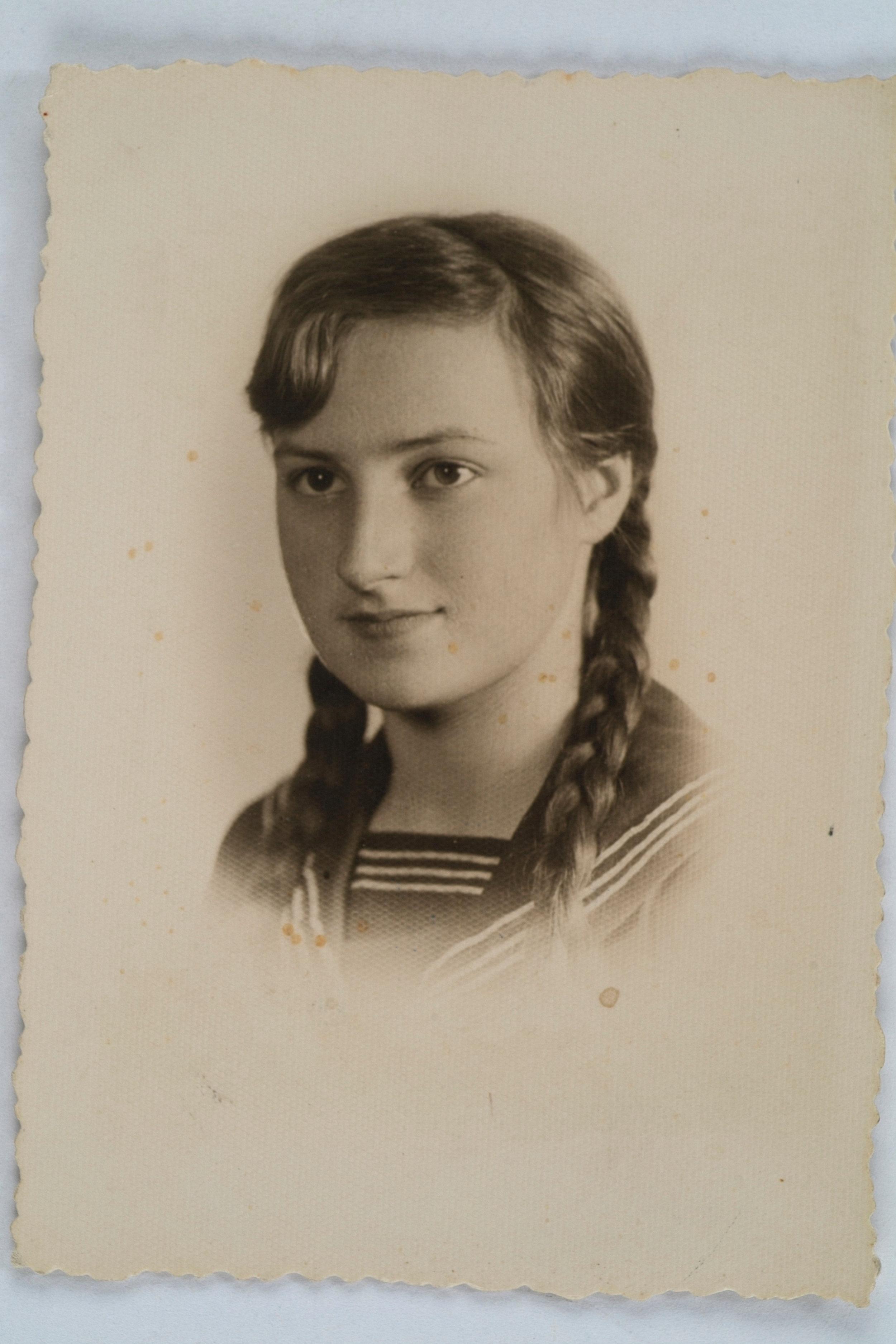 Wanda Poltawska as a young girl