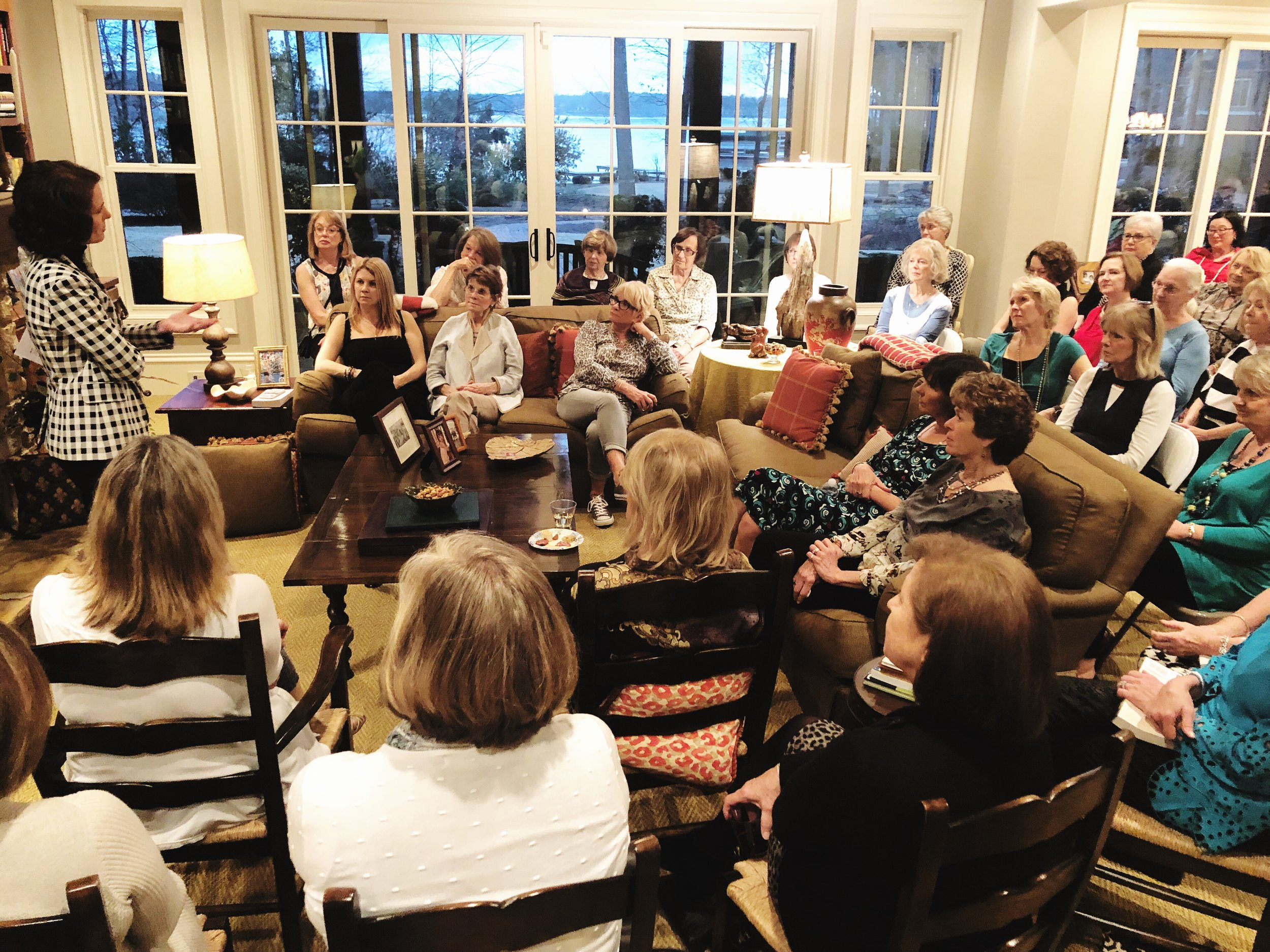 Book Club Event at Lake Oconee with Martha Hall Kelly.