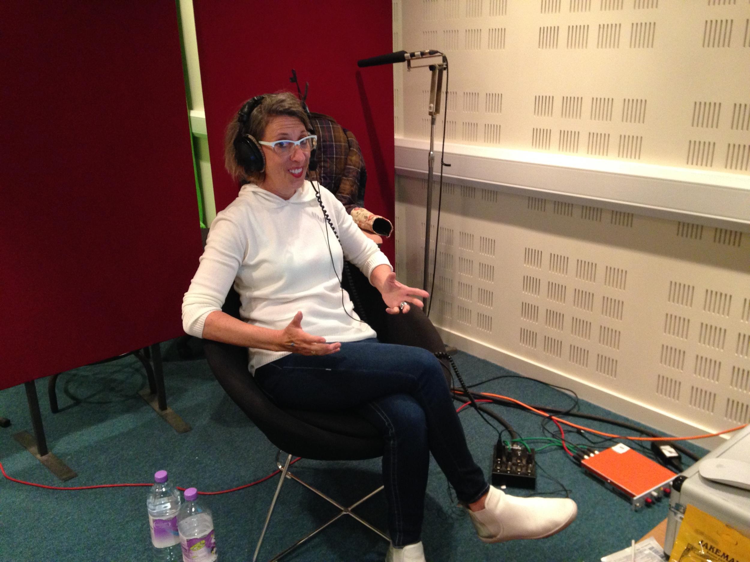 Debbie Irwin Recording in Scotland