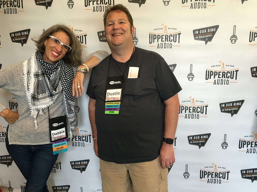 Dustin Ebaugh and Me at Faffcon 8 in Minneapolis this past August, thanks go to Brad Newman of UpperCut Audio, a key sponsor!