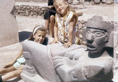 My sister, Linda, and I (age 4) when we were in Mexico.