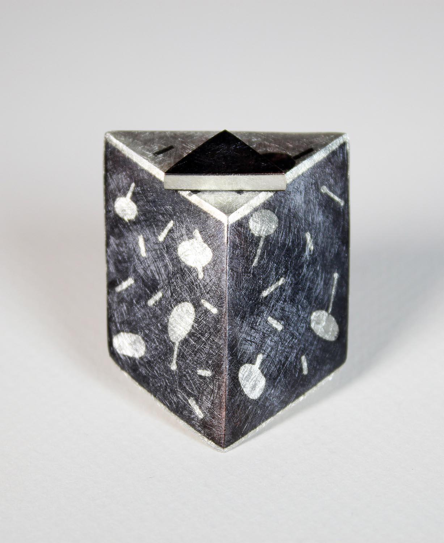 Inlay Hollow Form Brooch