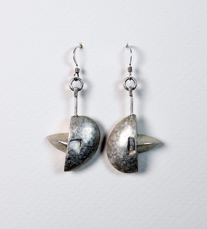 Silver Hollow Form Earrings