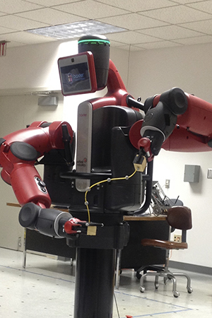 Manipulation of a wire by the Baxter robot.