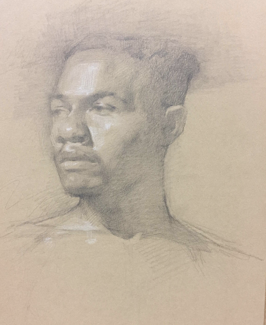 Najee in Graphite Portrait on Chipboard by Colleen Barry.png