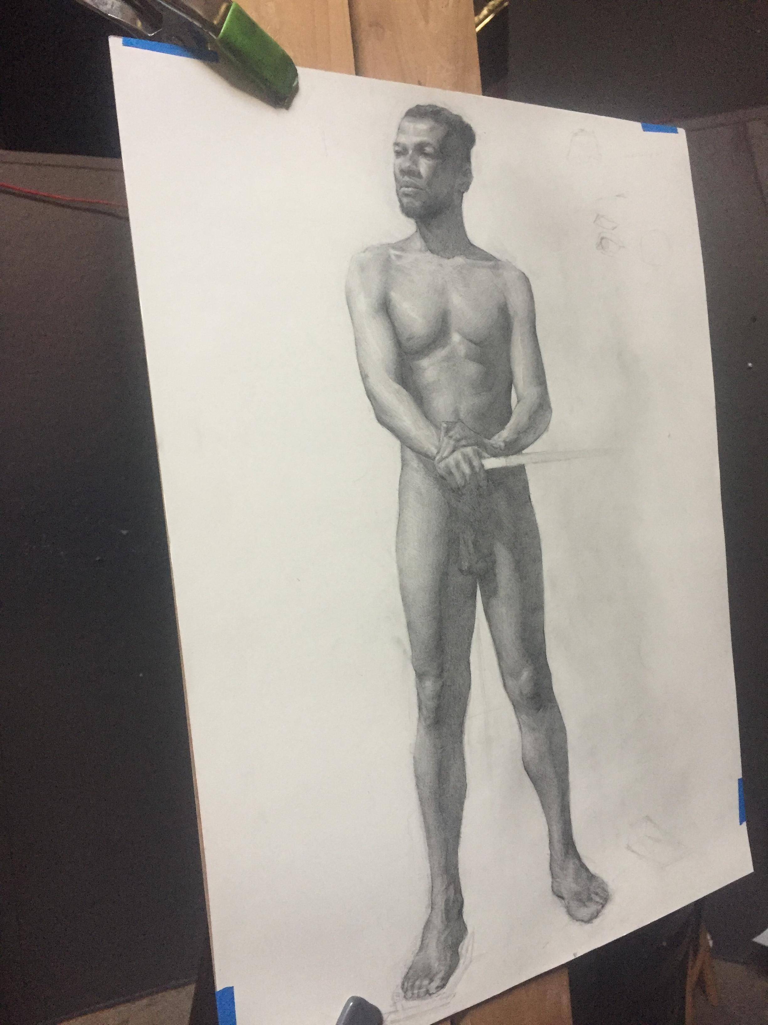 Najee Graphite Figure Study By Jesse Moy.JPG