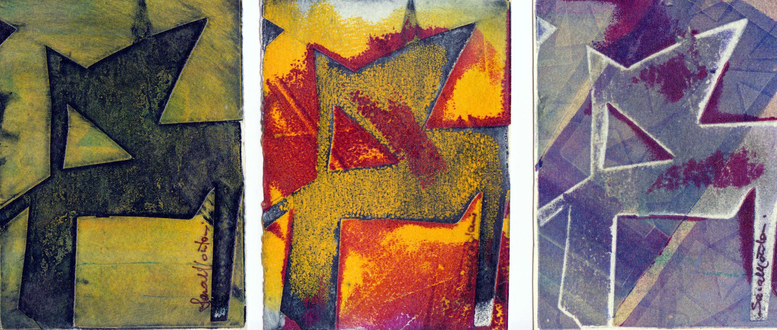 omaggio a Depero, 2005 Acquaforte su ottone Stampa a  monotipo cm 17x9.jpg