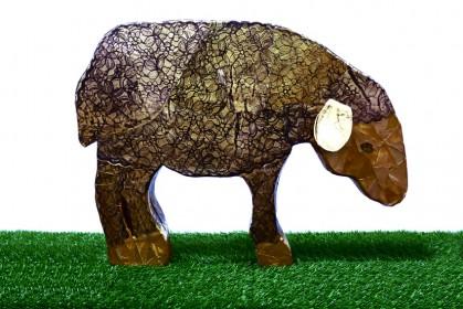 La pecora nera, la più preziosa per il Buon Pastore  2012 Struttura in polistirene estruso e cementite rivestita da collage di stampe originali monoprint su carta 60x100