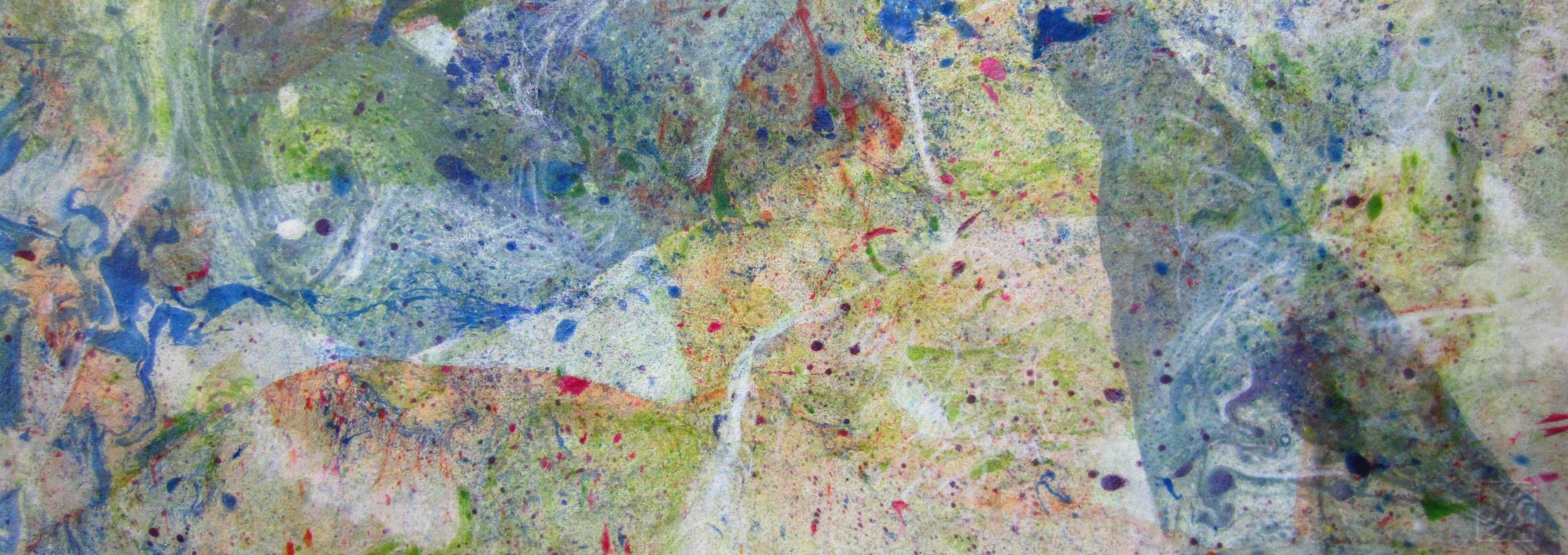 Il sogno di Alice, 2012. Olio su carta cm.30x70