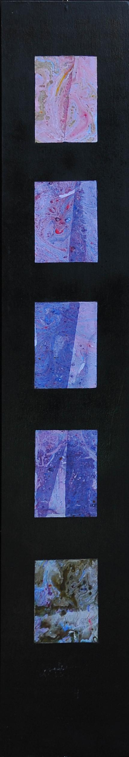 Pronto. A chi parlo. Riallacciare. 2001 Tecnica: olio su carta, cm.120x20