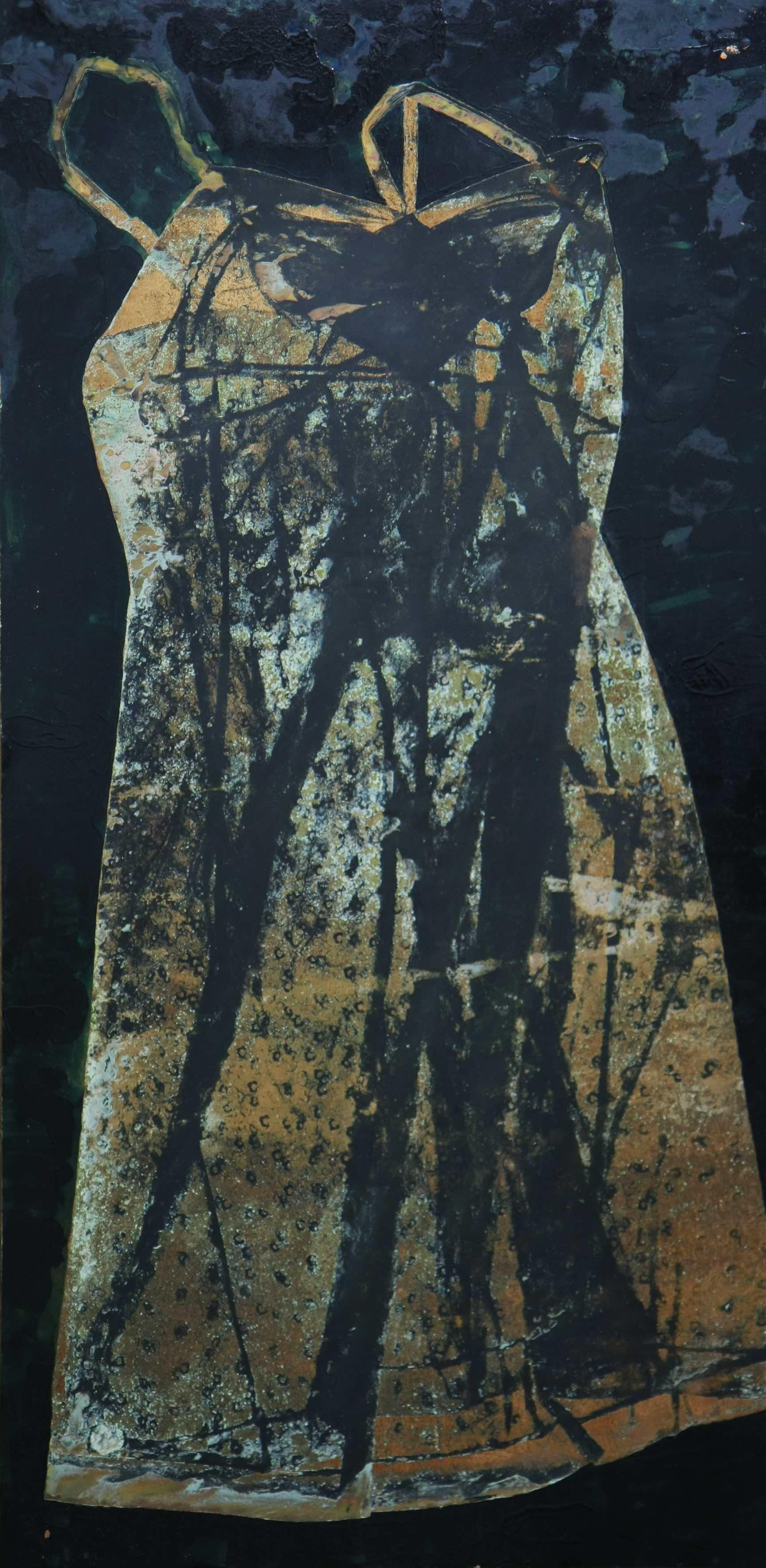 07- La donna non è cielo, è terra, 2012 tecnica mista su rame 100x49,5 .jpg