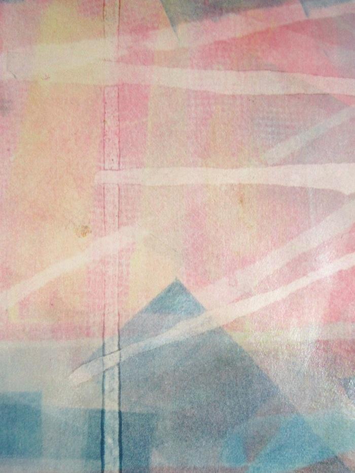 Alba  - Tecnica mista su carta intelaiata, 35x25 cm