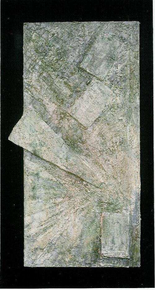 Ab origine -  1997, Tecnica mista su tavola, cm 86x41.