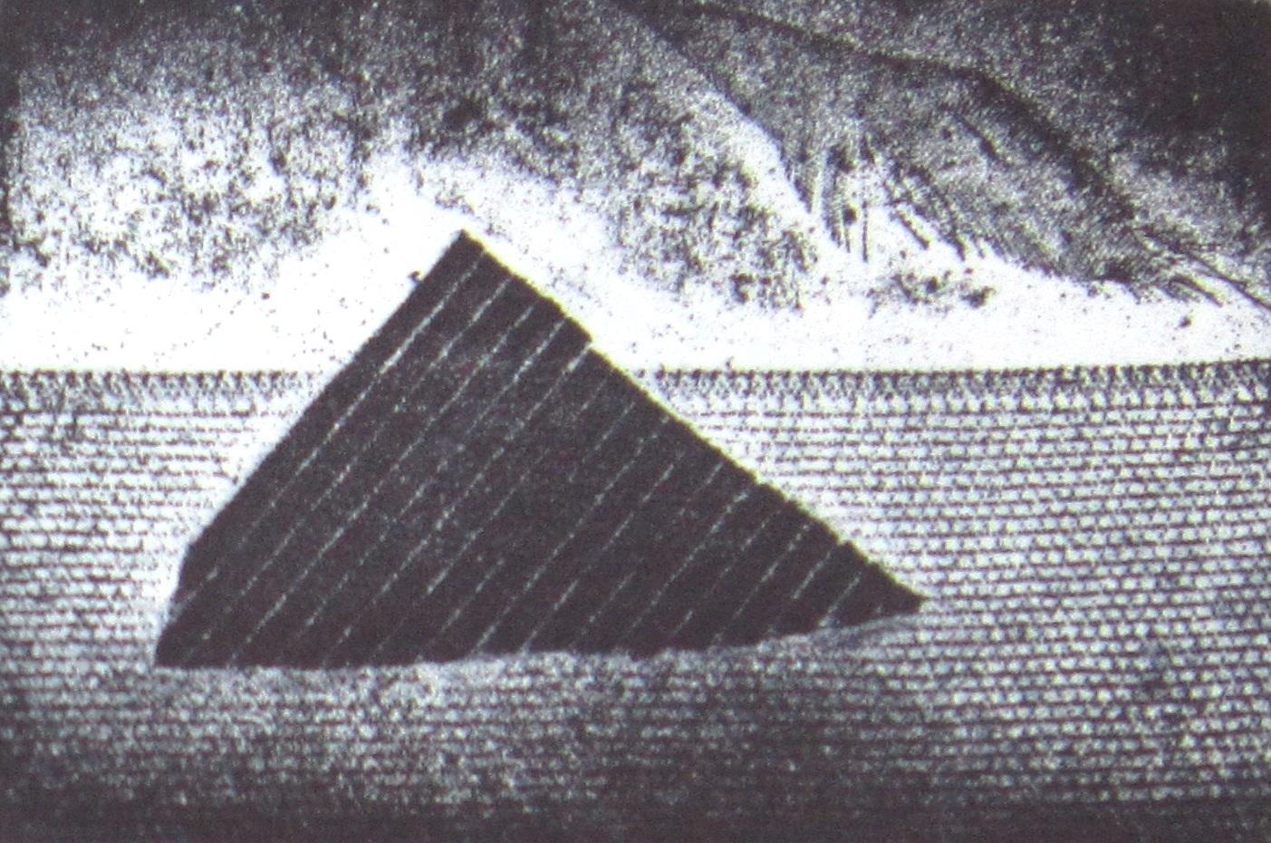 Isola - 1998, Acquaforte, acquatinta e ceramolle, cm 9,6x 14,6