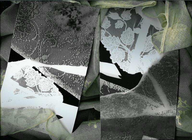 Coppia  - Rayografia e tulle, cm 21 x 29