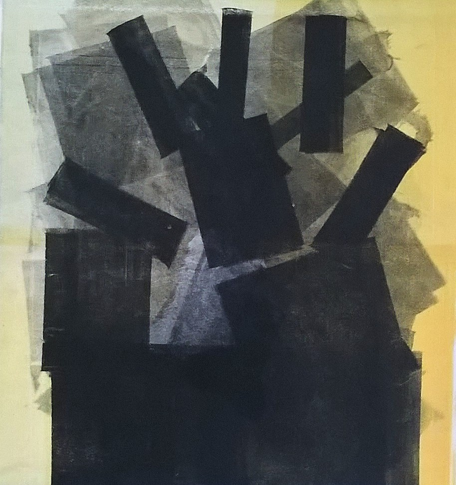 A 4 mani   2006-2007, monotipo con torchio da riporto litografico, carta Graphia, cm 70 x 50, tiratura 30 esemplari