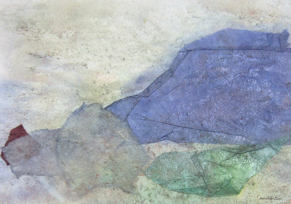 Promontorio   2000, tecnica mista e collage, carta Aetna e carta da 80 gr., cm 35,5 x 50,5