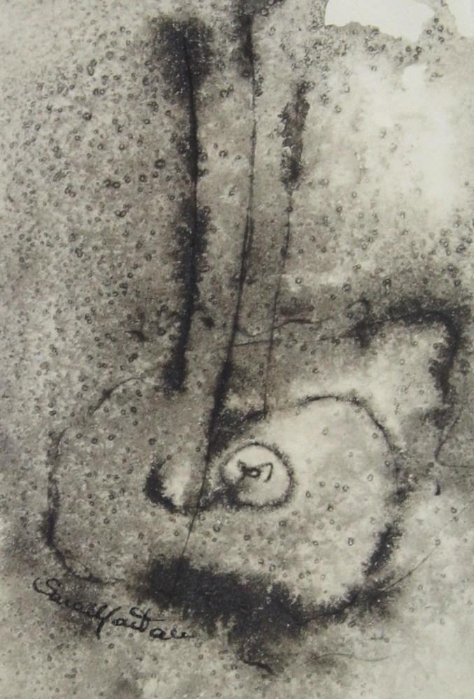 Oltretutto oltrepasso   1999, china su carta, carta Sicars edizione, cm 13 x 9