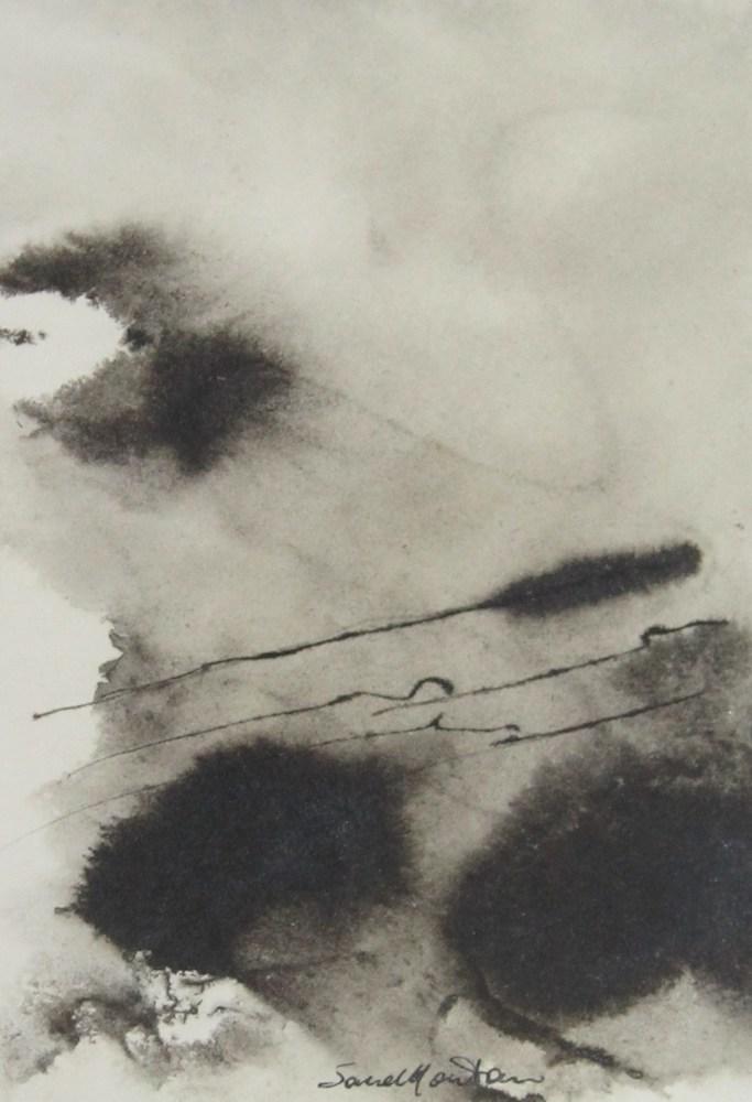 Di quello che stava   1999, china su carta, carta Sicars edizione, cm 13 x 9