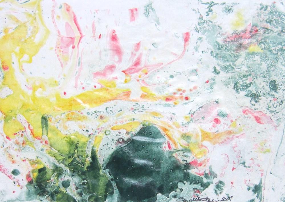1999, colori a olio su carta, 14,8 x 20,8 cm