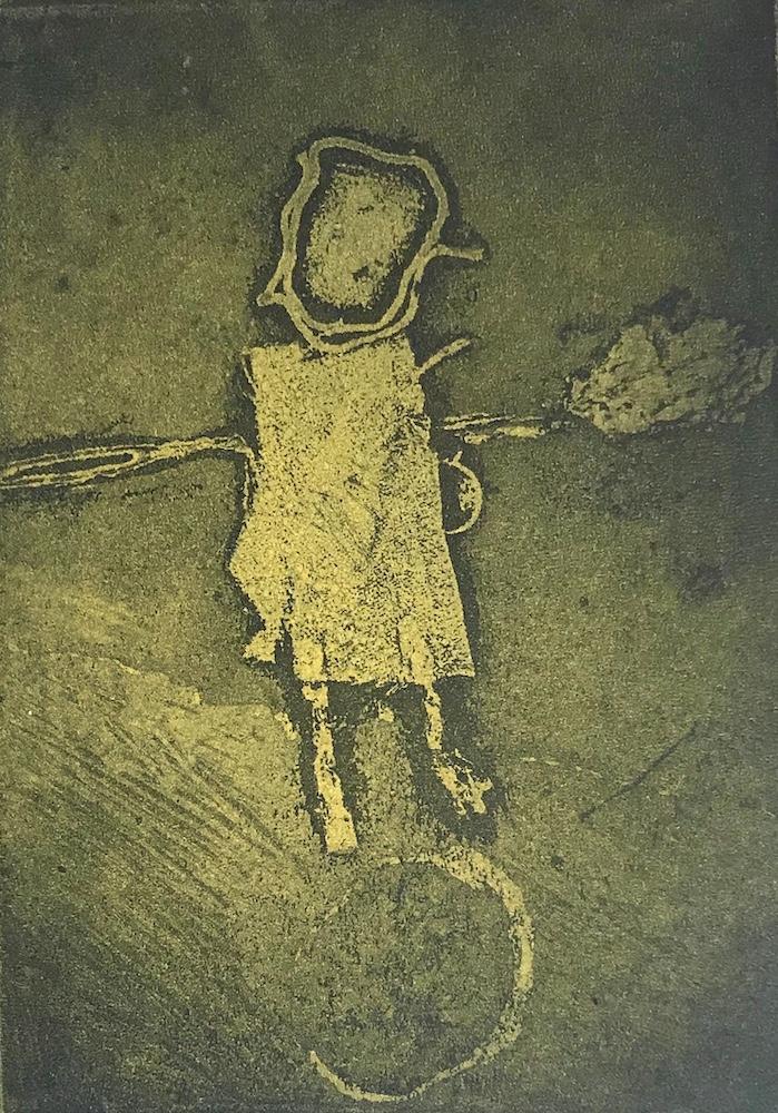 La matrice originale è stata eseguita da una bambina di nome Alice. Una copia è stata elaborata da Sara Montani per realizzarne una matrice in controstampa. I fogli stampati sono inseriti in una Opera pubblicata nel Repertorio degli incisori italiani, Comune di Bagnacavallo, Volume V, 2004-2007, EDIT Faenza, 2008, pag. 89