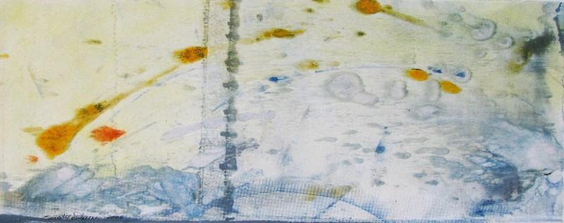 Del sogno -  2006, monotipo ritoccato a mano, carta Graphia, 20 x 50 cm