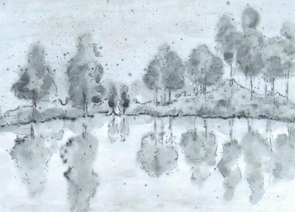 Silenzi -  1998, china e acquerello, 24 x 31 cm