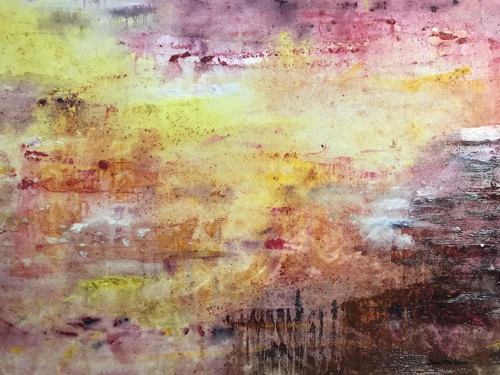Una raffica di vento aranciato  - 1994, olio su tela, 35 x 50 cm