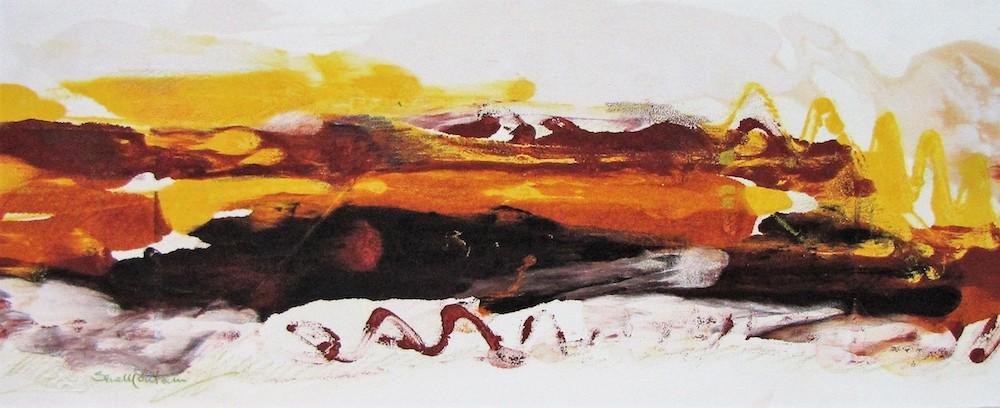 Paesaggio -  2008, monotipo, carta Hahnemühle, 26,5 x 61 cm