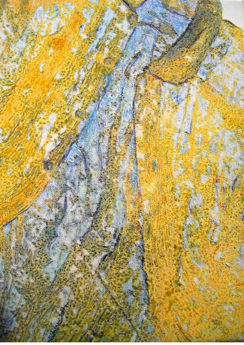 Era prima  - 2007, monoprint su tela, 40 x 30 cm