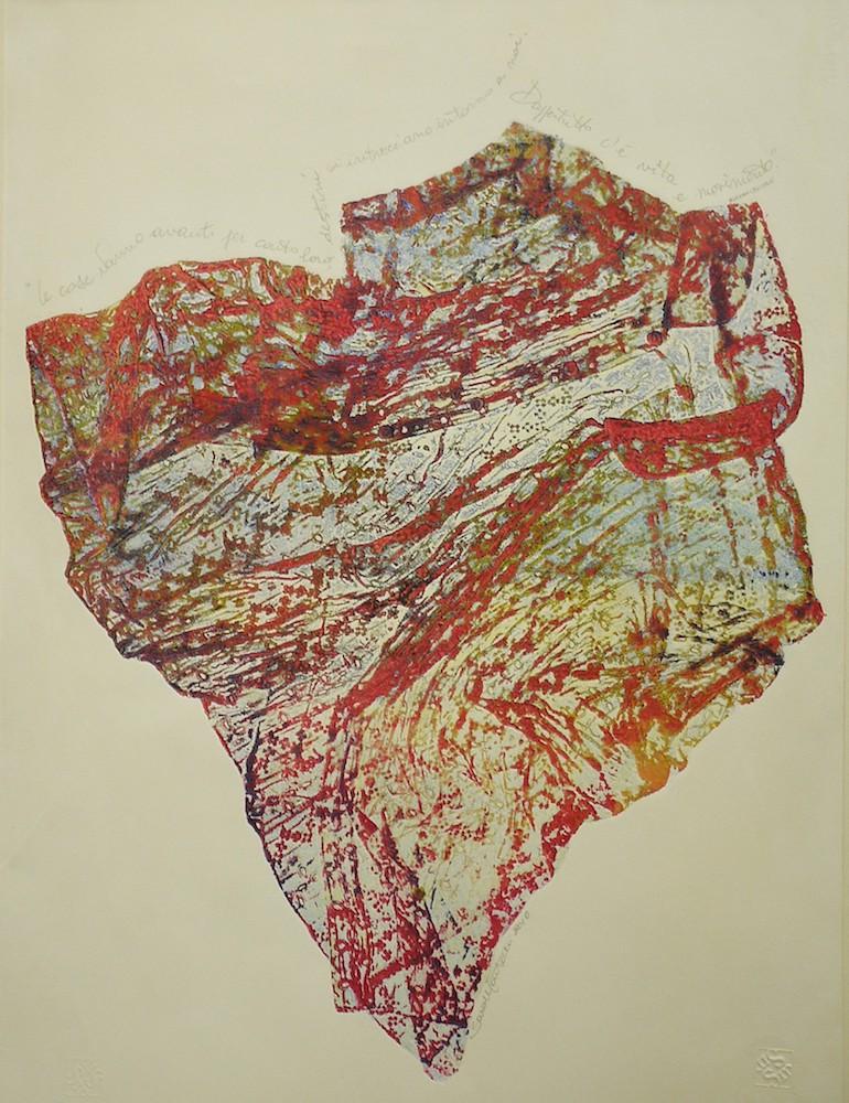 Le cose vanno avanti er conto loro  -  2010, monoprint, carta Graphia, 60 x 80 cm