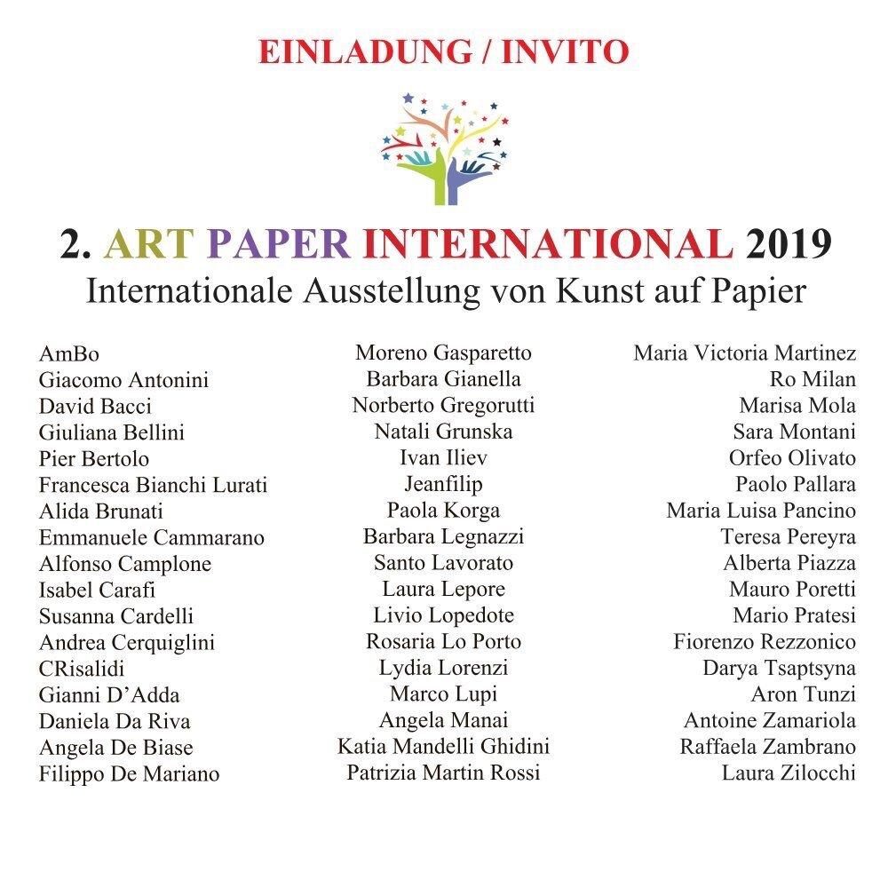 2. Art Paper Internation 2019