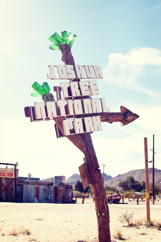 Unique Joshua Tree road sign. san diego commercial photography, san diego commercial photographer, southern California commercial photographer, California commercial photographer
