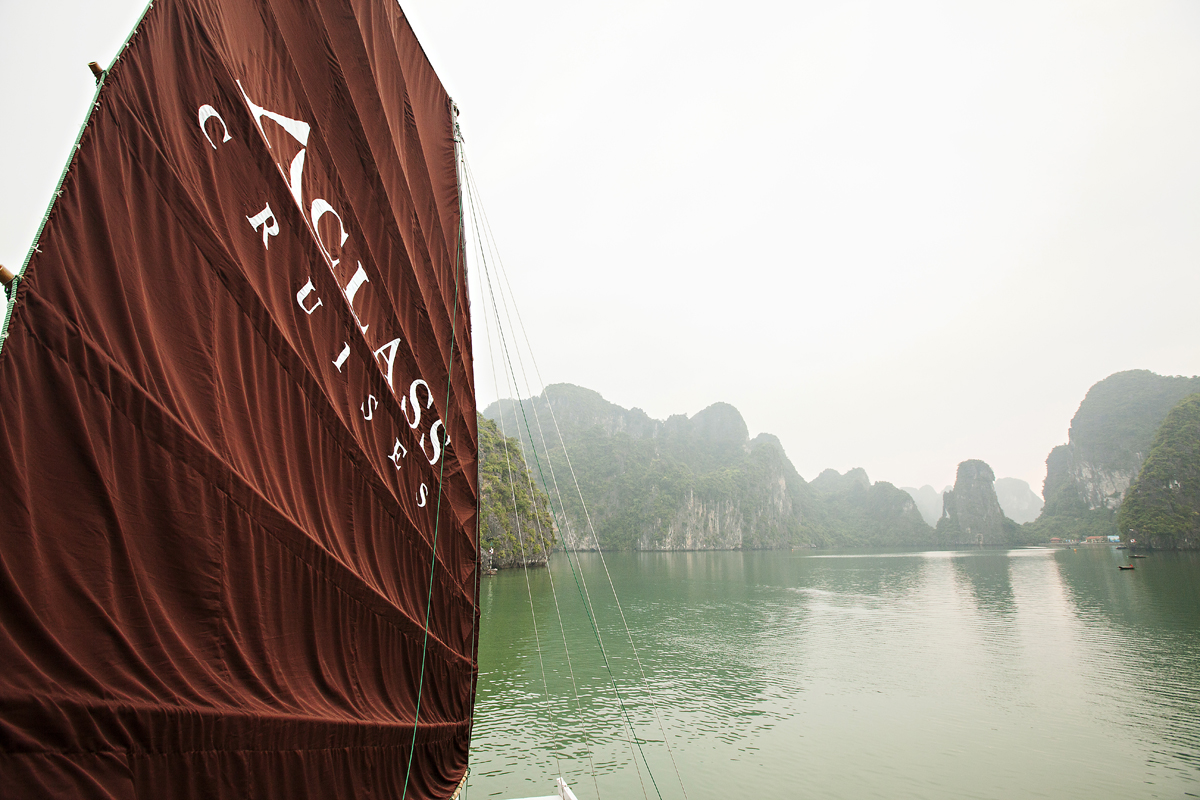 boat cruise on halong bay, vietnam. san diego commercial photography, san diego commercial photographer, southern California commercial photographer, California commercial photographer